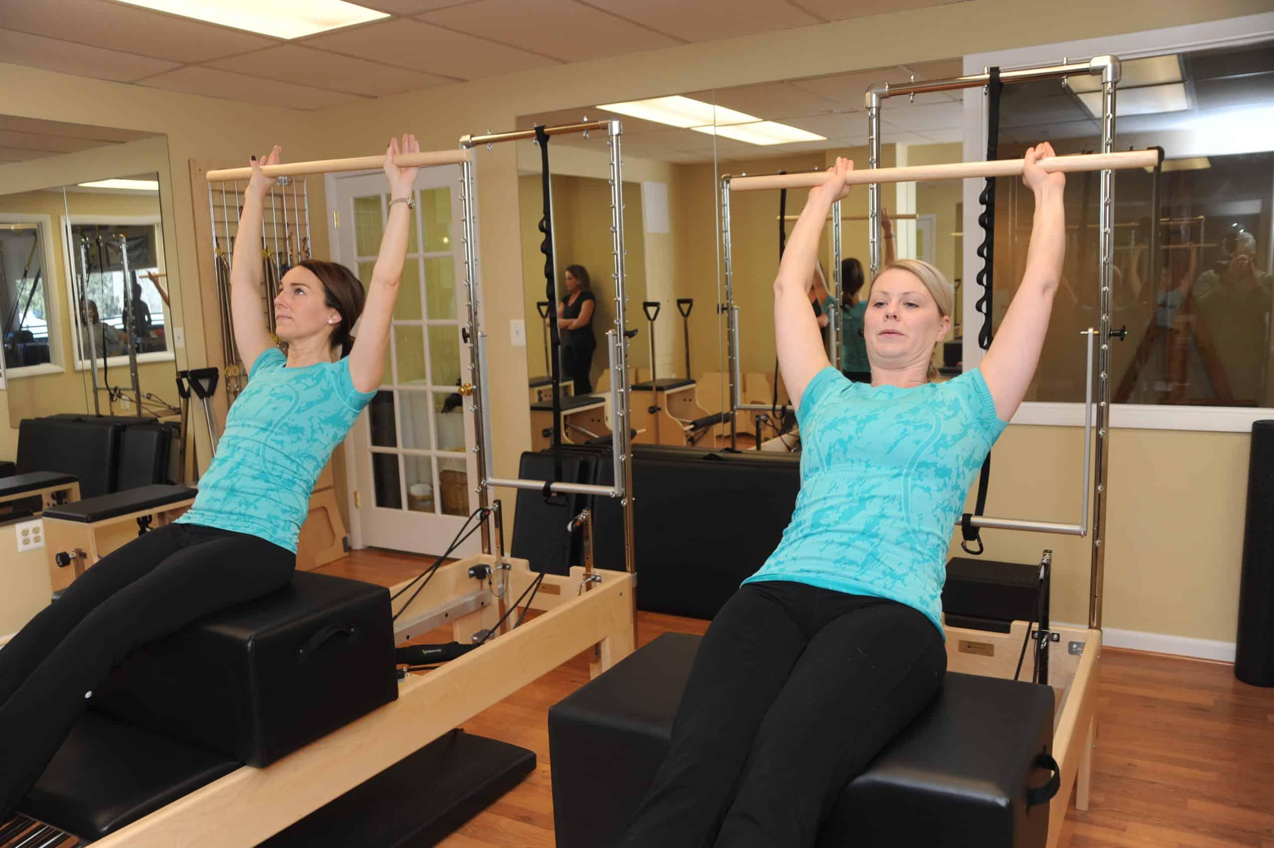 Women doing exercises.