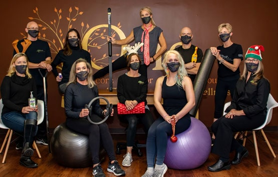 One Physical Therapy & Fitness team wearing face masks.